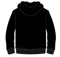 Fortnite Hoodie med dragkedja  & luva - Black