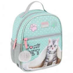 Katt / Ryggsäck / Skolväska - Kitty mini
