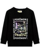 Pokemon Mewtwo Gamer Sweatshirt Neonlinsformigt tryck