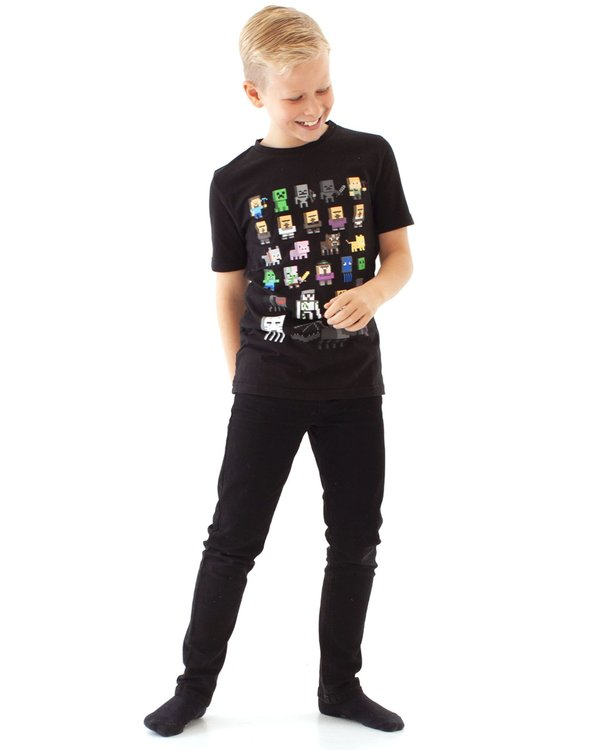 Minecraft Sprites T-shirt Black