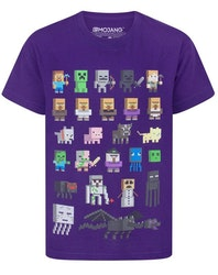 Minecraft T-shirt  Sprites - Purple