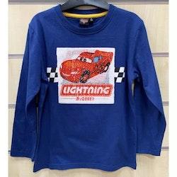 Disney Bilar / Cars Långärmad tröja - Paljetter