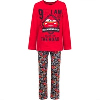 Disney Bilar Pyjamas - The road - Röd
