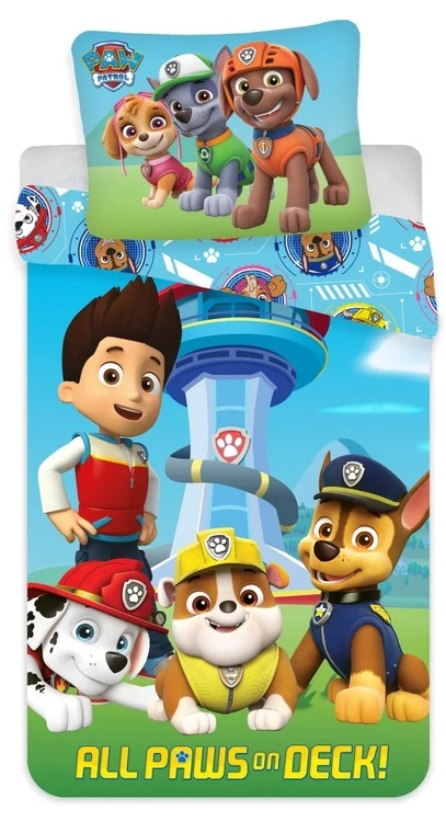 Paw patrol Påslakan 100x135 - All Paws on Deck!