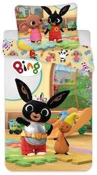 Bing påslakan Junior- Bing with friends