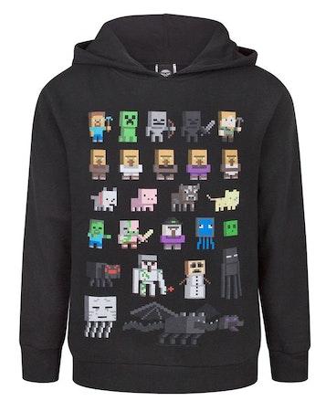 Minecraft Hoodie / Luvtröja Sprites Black