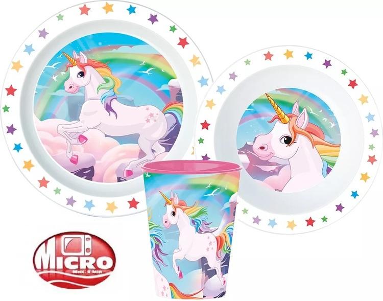 3 delat Unicorn - Enhörnings Måltidsset