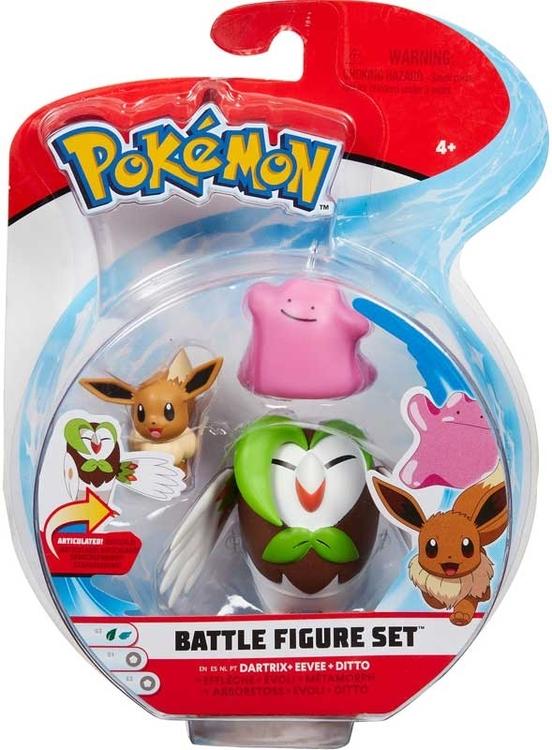 Pokémon 3 - pack Stridsfigurer / Dartrix, Eeve & Ditto