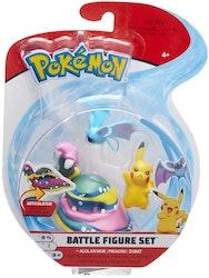 Pokémon 3 - pack Stridsfigurer / Pikachu - Zubat & Alolan Muk