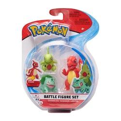 Pokémon Stridsfigurer Charmeleon - Bulbausar - Larvitar