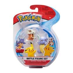 Pokémon Stridsfigurer Wartortle Pikachu Cubone