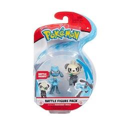 Pokémon Stridsfigurer Pancham Riolu