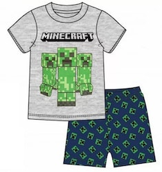 Minecraft Pyjamas / T-shirt + Shorts - Beware Creeper