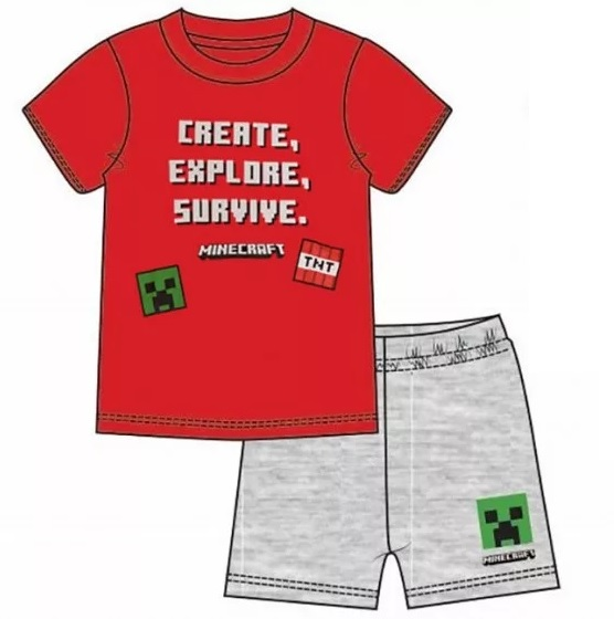 Minecraft Pyjamas / Create Explore Survive
