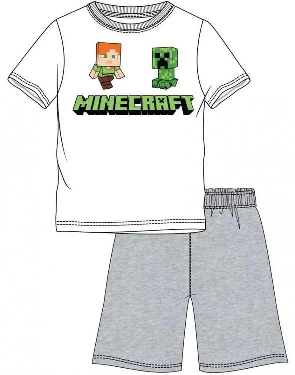 Minecraft T-shirt + Shorts / Pyjamas - Steve & Creeper