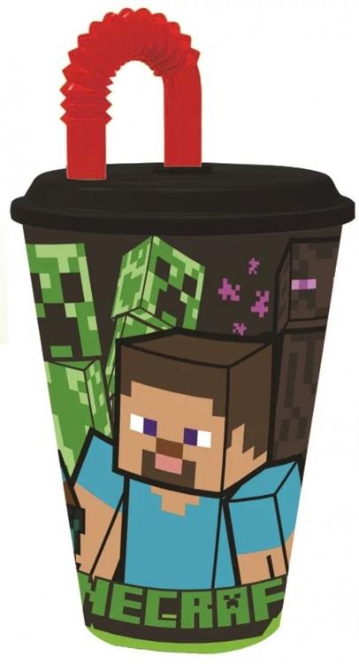 Minecraft Mugg med sugrör 430 ml