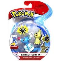 Pokémon Stridsfigurer Brionne - Mimikyu - Cosmoem