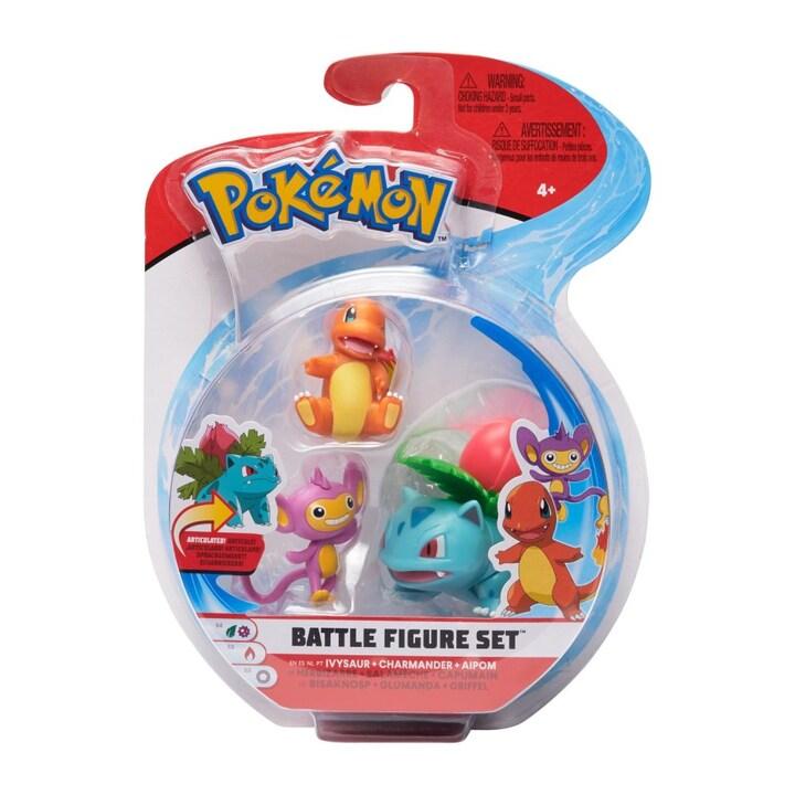Pokémon 3 - pack Stridsfigurer / Ivysaur - Charmander - Aipon
