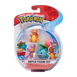 Pokémon 3 - pack Stridsfigurer / Ivysaur - Charmander - Aipon