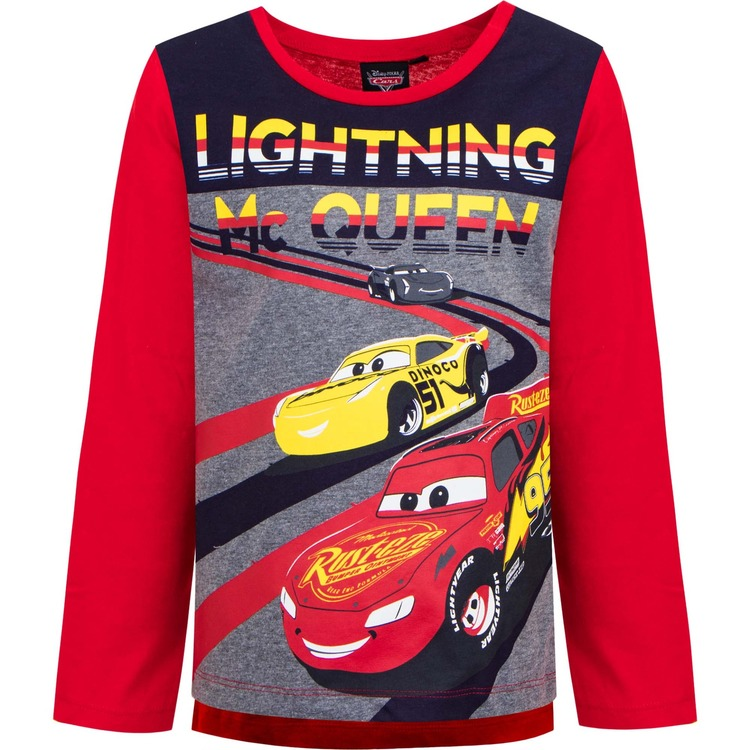 Bilar / Cars Långärmad tröja - Lightning Mcqueen