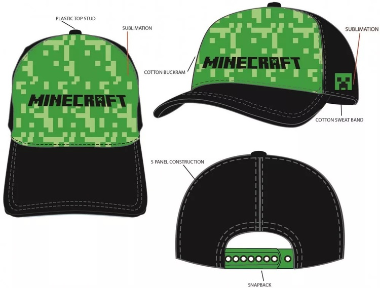 Minecraft Keps - Black miner