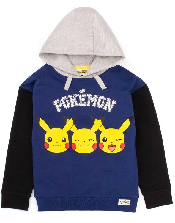 Pokemon Pikachu Face Hoodie / Luvtröja - Pokeball