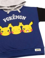 Pokemon Pikachu Face Hoodie / Luvtröja - Pokeball