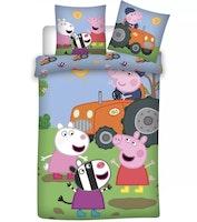 Greta Gris / Peppa pig påslakan Junior Farmers 100x135