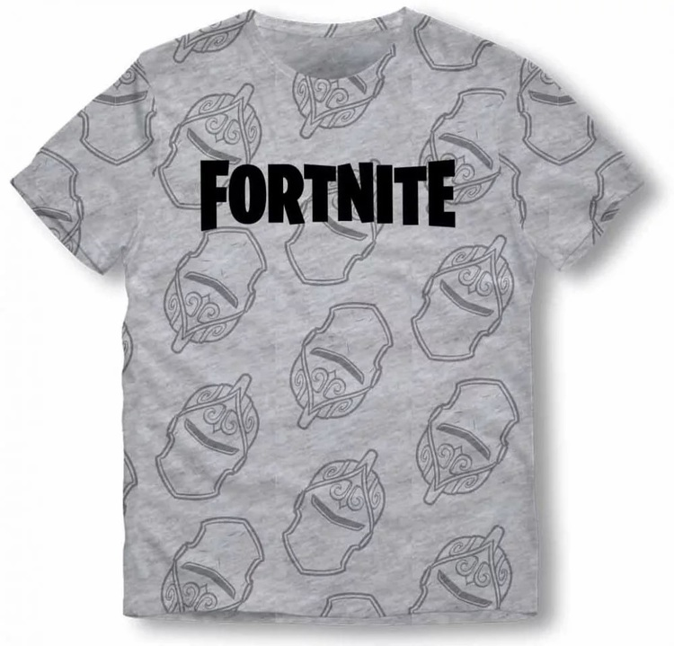 Fortnite T-shirt - Grey -  The knight