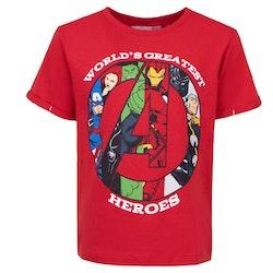 Avengers - T-shirt / Kortärmad tröja - World greatest heroes - Röd
