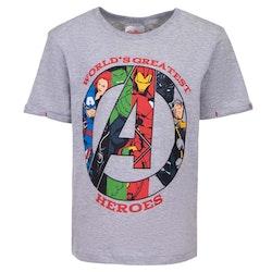 Avengers - T-shirt / Kortärmad tröja - World greatest heroes - Grå