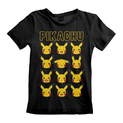 Pokemon T-shirt - Pikachu Faces / kortärmad tröja