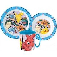 Pokemon 3 -delat Måltidsset med mugg