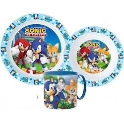 Sonic the hedgehog 3-delat Måltidsset med mugg