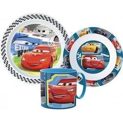 Disney Cars - Bilar 3-delat Måltidsset med mugg
