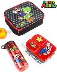 Super Mario Lunchkit - Flaska, lunchväska och matlåda