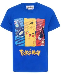 Pokemon T-shirt - Pikachu Retro style tripple
