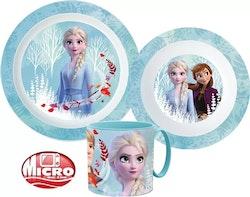 Disney Frost 2 / Frozen - 3-delat Måltidsset med mugg
