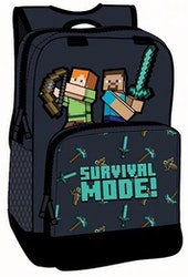 Minecraft Survival mode - Skolväska  / Ryggsäck 36 cm