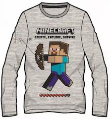 Minecraft Långärmad tröja - Steve explores!