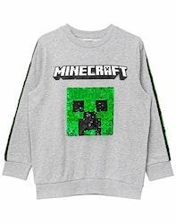Minecraft Sweatshirt med Paljetter - Creeper & TNT