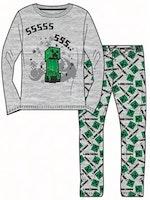 KMinecraft Lånärmad pyjamas - Creeper SSSS