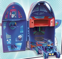 Pyjamashjältarna / PJ mask Kattpojken 2 fordon i 1 Högkvarter HQ
