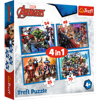 Avengers Pussel 4 i Pussel - 4 x Pussel