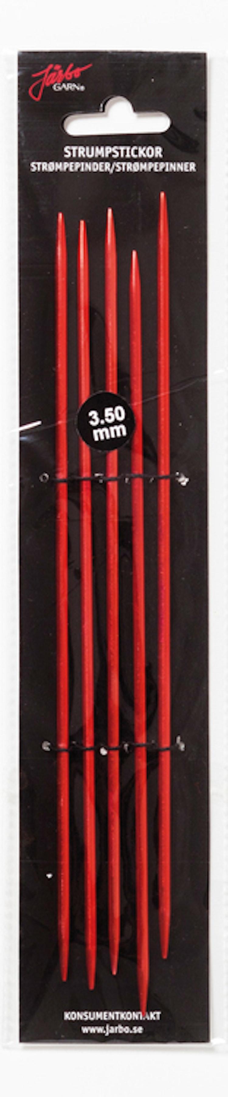 Strumpstickor RÖD , 15 cm