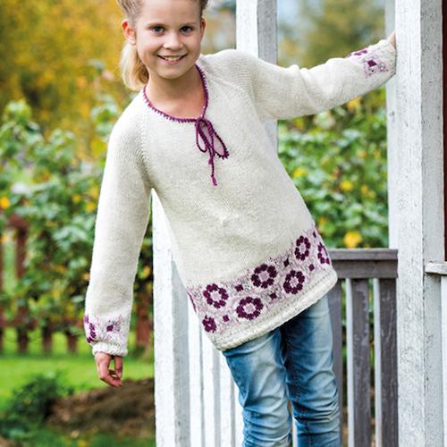 Tröja Barn med mönster