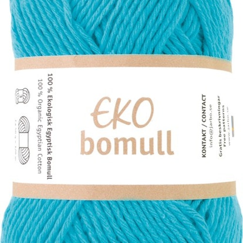 Eko Bomull, 50g Turquoise