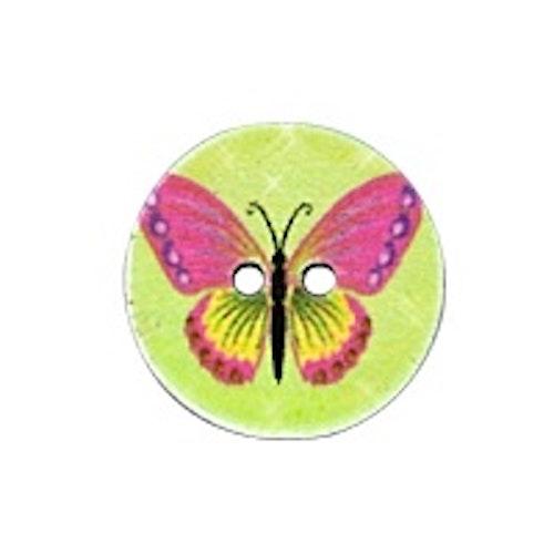 Barnknapp , Fjäril, 16 mm