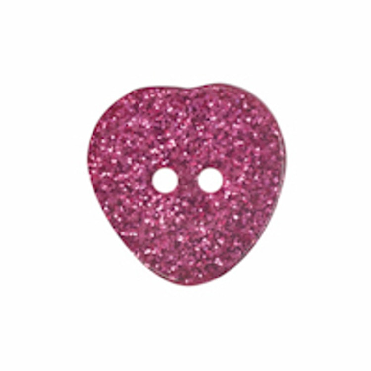 Barnknapp , Glitterhjärta , 9 mm*