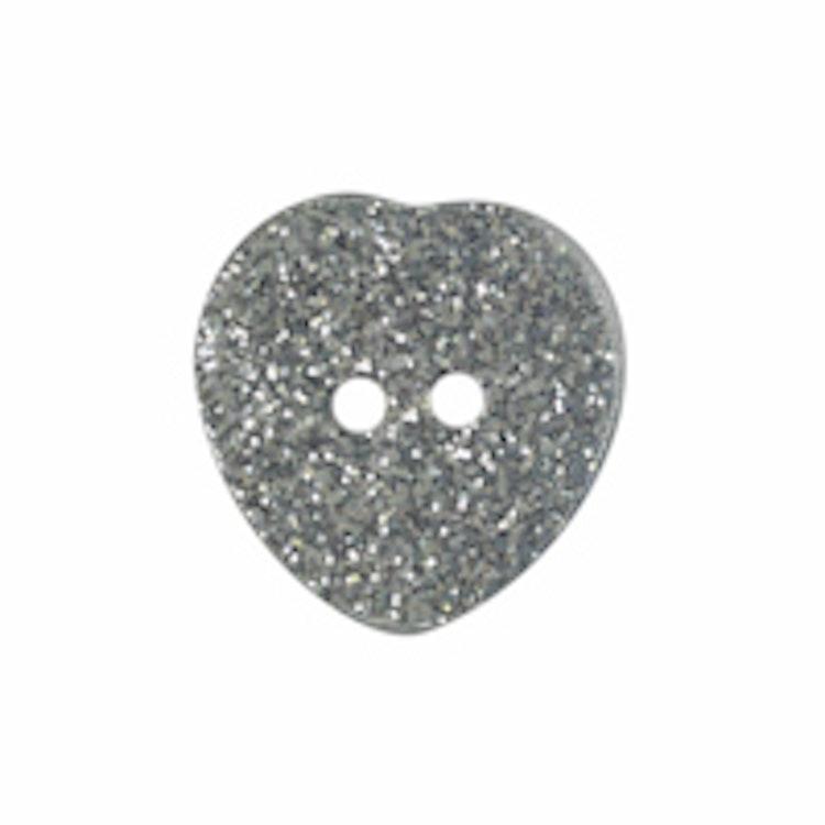 Barnknapp , Glitterhjärta , 11 mm*